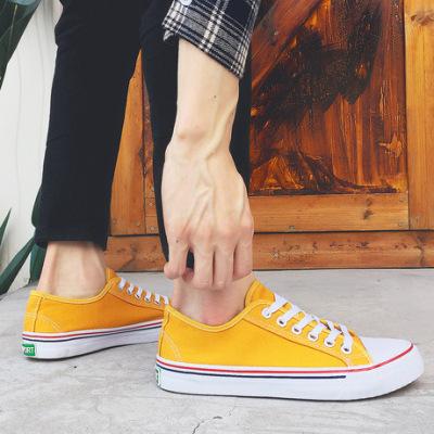 春季新款情侣帆布鞋批发经典男鞋韩版彩色学生鞋男士布鞋女鞋6625
