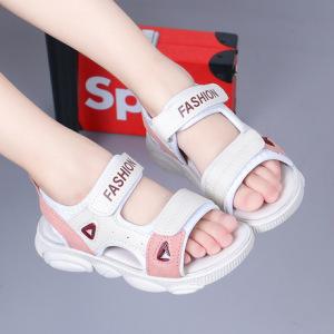 女童凉鞋2019夏季新款韩版时尚软底男童沙滩鞋男孩露趾凉鞋中大童