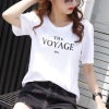 2019夏季新款纯棉t恤女短袖女装韩版女式字母宽松打底衫厂家批发