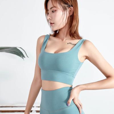 新款欧美高支撑运动内衣女防震跑步聚拢瑜伽背心美背文胸健身bra