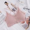 日系新品网红蕾丝花边交叉美背裹胸女吊带无缝舒适露背聚拢文胸女
