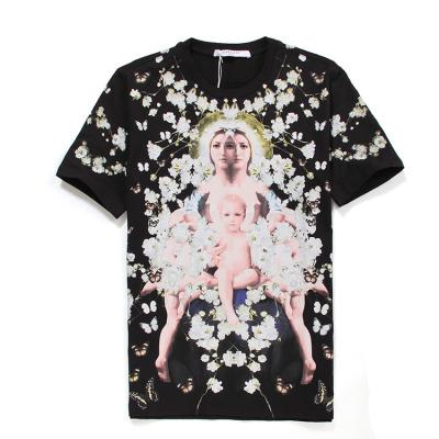 GIVENCHY纪梵希纯棉印花图案男女士短袖T恤