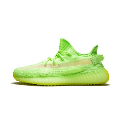 Adidas Yeezy Boost 350 V2 GLOW 荧光绿 夜光椰子跑步鞋