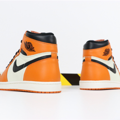 Air Jordan 1 Retro High OG AJ1乔1白橙白扣碎篮板