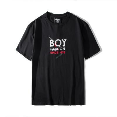 BOY LONDON 新款黑蓝圆领短袖套头T恤老鹰