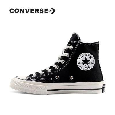 Converse匡威帆布鞋1970s三星标黑色高帮帆布鞋男女鞋162054c