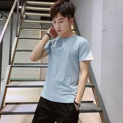 夏季男士短袖t恤打底衫时尚上衣休闲潮流半袖青春活力圆领T恤男装