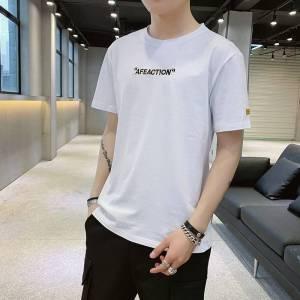 2019新款短袖t恤男士夏季潮流时尚休闲半袖纯色T恤男装上衣服韩版