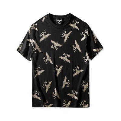BOY LONDON 新款黑金小老鹰圆领短袖套头T恤