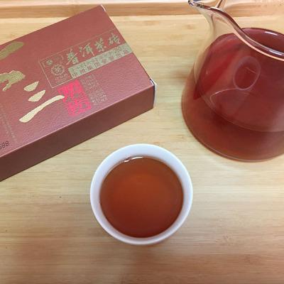云南普洱茶 中茶牌2017年七三厚砖 熟茶250克 中粮集团73厚砖