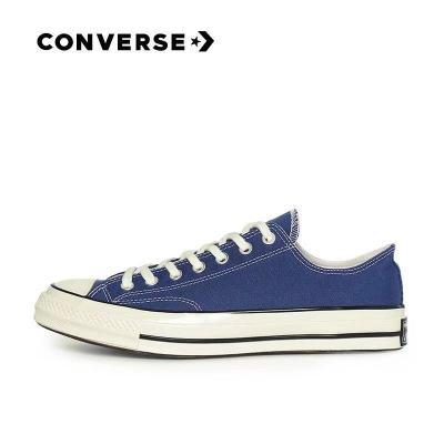 Converse匡威1970s三星标低帮蓝色情侣帆布鞋