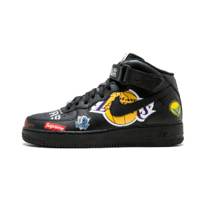 Nike Air Force 1 xNBA x Supreme三方联名 涂鸦板鞋 AQ8017 001