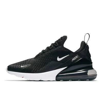 """Nike Air Max 270系列后跟半掌气垫慢跑鞋 """"黑白黑底"""