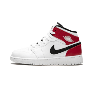 Air Jordan 1 Mid GS aj1 白红 小芝加哥 中帮篮球鞋- 554725 116
