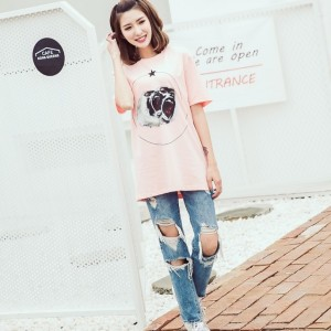 GIVENCHY纪梵希纯棉印花图案女士短袖T恤
