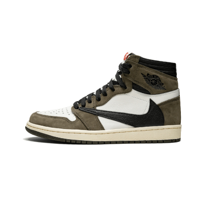 Air Jordan 1 Hi OG x Travis Scott AJ1倒钩 男篮球鞋CD4487 100