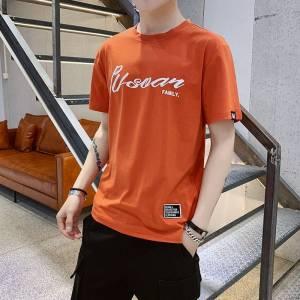 男士短袖体恤新款圆领休闲衣服夏季韩版潮流纯色时尚夏装体恤男装
