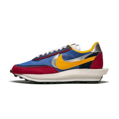 Nike LD WAFFLE x SACAI联名 解构红蓝 男复古跑步鞋