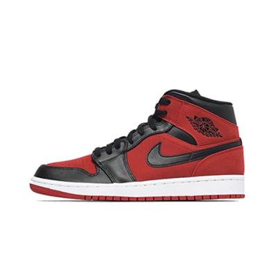Air Jordan1Mid AJ1黑红小禁穿 top3鸳鸯扣碎黑金脚趾