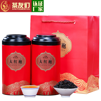 茶友们●精选大红袍茶叶春茶新茶礼盒装400g罐装武夷岩茶肉桂乌龙茶