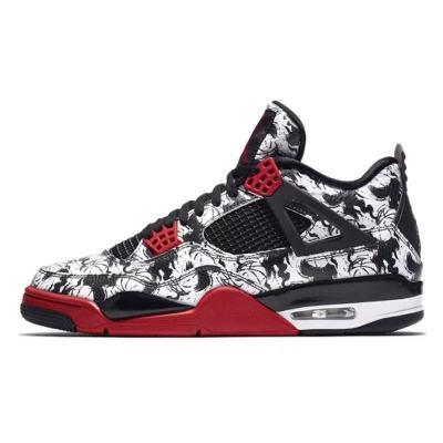 Air Jordan 4 AJ4 纹身刺青 涂鸦黑红篮球鞋