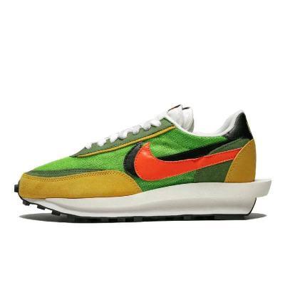 Nike LD WAFFLE x SACAI 联名走秀款 黄绿 男复古跑鞋