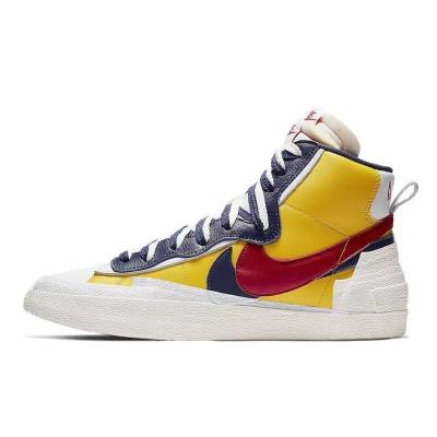 Sacai X NIKE Blazer mid 红黄 白蓝 联名解构板鞋