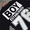 BOY LONDON 新款黑银圆领短袖套头T恤老鹰