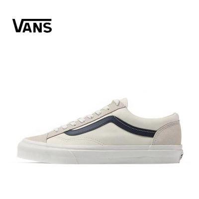VANS万斯 权志龙GD同款红白条STYLE 36帆布滑板鞋 VN0A3DZ3OXS