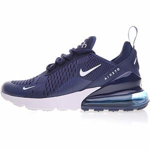"""Nike Air Max 270系列后跟半掌气垫慢跑鞋 """"深蓝白黑底"""""""