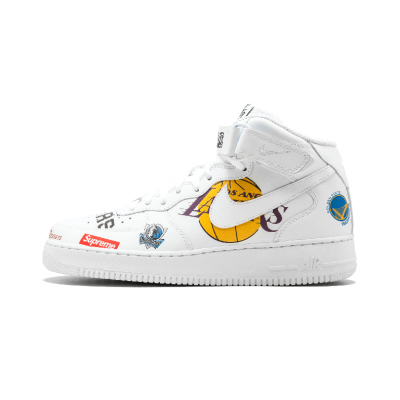 Nike Air Force 1 x NBA x Supreme三方联名板鞋 - AQ8017 100