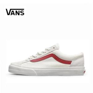 Vans style 36 权志龙同款白红低帮经典帆布滑板板鞋VN0A3DZ3OXS