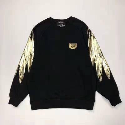 BOY LONDON 新款黑金圆领长袖套头卫衣连帽老鹰