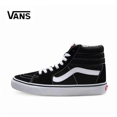 范斯vans高帮男鞋经典款sk8-hi黑白翻毛皮滑板鞋女鞋VN000D5IB8C