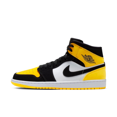 Air Jordan 1 YellowTeo AJ1 mid 黑黄脚趾