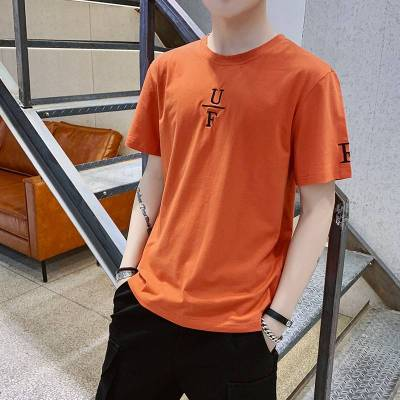 2019夏季男士短袖t恤打底衫帅气上衣休闲潮流半袖纯色圆领t恤男装