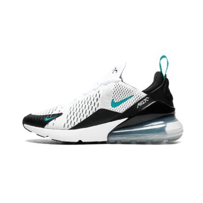 """Nike Air Max 270系列后跟半掌气垫慢跑鞋 """"白黑月兰底"""