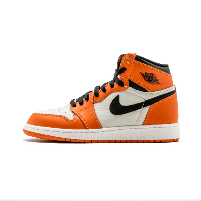 Air Jordan 1 Retro High OG AJ1乔1白橙白扣碎篮板