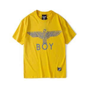 BOY LONDON 新款黄色圆领短袖套头T恤老鹰