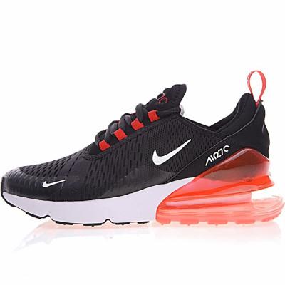 """Nike Air Max 270系列后跟半掌气垫慢跑鞋 """"黑白橘底"""""""