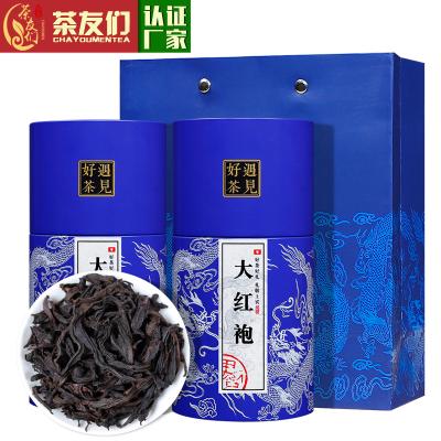 茶友们●新茶大红袍茶叶武夷岩大红袍肉桂散装乌龙茶礼盒装罐装400克