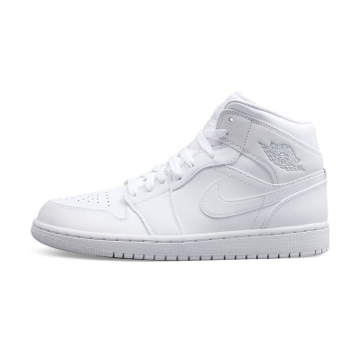 "AJ1 乔丹1代系列中帮 Air Jordan 1 Mid ""Whiteout"""