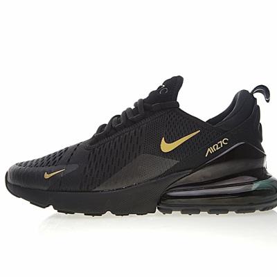 """Nike Air Max 270系列后跟半掌气垫慢跑鞋 """"黑金"""""""