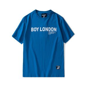 BOY LONDON 新款蓝色圆领短袖套头T恤老鹰