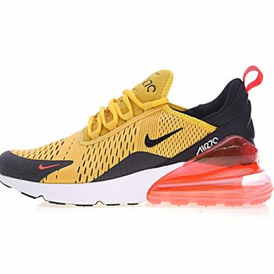 """Nike Air Max 270系列后跟半掌气垫慢跑鞋 """"黄黑红白"""""""