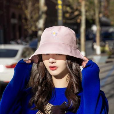 小雏菊帽子帽子菊花渔夫帽 女夏季遮阳帽防风帽旅游帽女士帽子