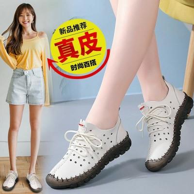 牛筋软底女鞋夏季新款软面舒适防滑平底镂空透气妈妈凉鞋