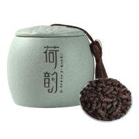 云南糯米香茶化石碎银子特级普洱茶熟茶散茶老茶头500g茶叶陶罐装