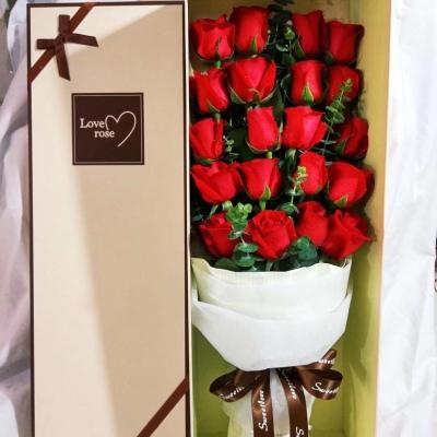 礼盒玫瑰花20朵