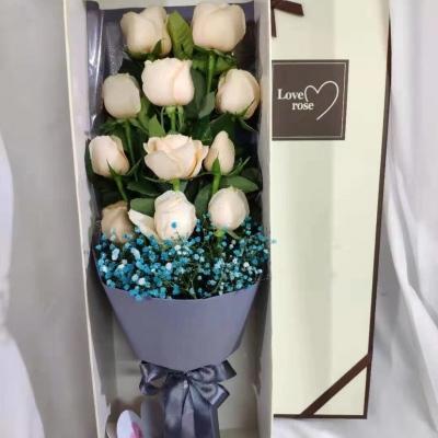 香槟玫瑰礼盒装11朵